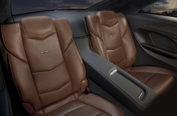 Cadillac ELR rear seats showing 2+2 configuration