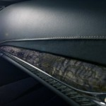 The interior of the ELR is wrapped in leather and accented with wood inserts